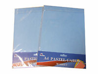 60 SHEETS OF A4 COLOUR COLOURED PASTEL CRAFT CARD 200gsm PINK BLUE GREEN YELLOW