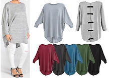 Women Bow Back Baggy Long Batwing Top Ladies Oversized Casual Wear Long Top 8-28