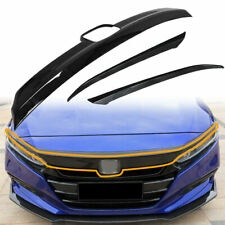 For Honda Accord 2018 2019 ABS Glossy Black Lip Front Grille Cover Moulding Trim