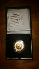 £2 proof gold football coin euro 1996 royal mint