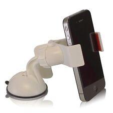 Supporto da auto macchina ventosa parabrezza pinze per Apple iPhone 4 4S Bianco
