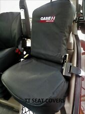 case cnh passenger seat cover black with logo