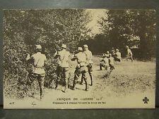 cpa militaire croquis de guerre 1915 chasseurs a cheval faisant le coup de feu