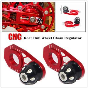 2×Universal Motocross Rear Hub Wheel Alignment Adjuster Chain Regulator Antiskid