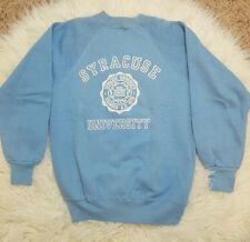 Vintage Syracuse University Crewneck Sweatshirt Sweater Blue XS