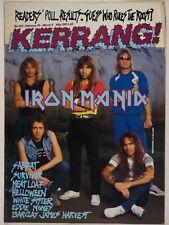 KERRANG! MAGAZINE: Iron Maiden 1987 Vintage Heavy Metal Survivor Meat Loaf