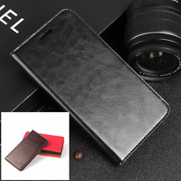 Genuine Leather Wallet Card Holder Flip Case Cover For Microsoft Lumia 950 XL