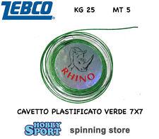 CAVETTO IN ACCIAIO MORBIDO VERDE 7X7 KG 25  MT5 X LUCCIO