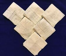 "Vintage Antique Linen 10"" Handkerchiefs Box of 6 Assorted  - NEW(old) #57-(C21C)"