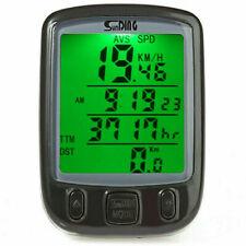 Wireless Bicycle Computer Waterproof LCD Speedometer Bike MTB Odometer Cycling
