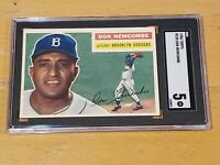 1956 Topps #255 Don Newcombe SGC 5 New Label Graded PSA BVS