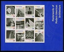 #3910 37c Modern American Architecture, Souvenir Sheet, Mint