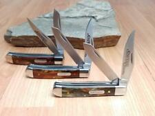 Schrade (Lot of 3) Medium Trapper Imperial Amber Folding Pocket Knife 15T-3