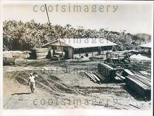 1962 School Construction Micronesia Press Photo