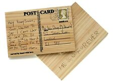 Suck UK Carve Your Own Postcard Wooden Personalised Message Greeting Card