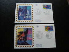 FRANCE -  2 enveloppes 1er jour 30/4/1994 (europa) (cy47) french