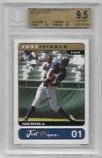 JOSE REYES 2002 JUSTIFIABLE ROOKIE PROTOTYPES CARD #1 BECKETT GRADED 9.5 LOT RC
