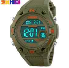 SKMEI Green Military Sports fashion casual rubber Watch