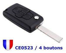 Shell Rks Housing Remote control Key 4 buttons CE0523 HU83 for Peugeot 1007 807