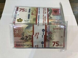 Rupiah 75000 Indonesia 75th ulang UNC
