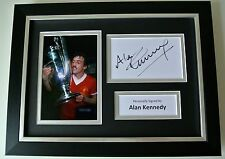 Alan Kennedy SIGNED A4 FRAMED Photo Autograph Display Liverpool Football & COA