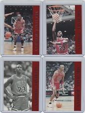 1992 Krown Michael Jordan Promos, 1-4 Red Foil Set Rare