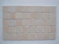 "Loose 1"" square Variegated Ceramic Mosaic Tiles - 40 pieces - Pink Non-slip"