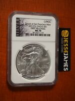 2012 (S) $1 AMERICAN SILVER EAGLE NGC MS70 FIRST RELEASE STRUCK AT SAN FRANCISCO