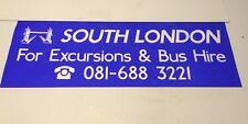 """Croy1002 Bus Blind 42"""" South London Excursion & Bus Hire Tower Bridge"""