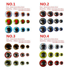 732pcs Fishing Lure Eyes 3D Holographic Eyes Fly Tying Jigs Crafts Doll 3-6mm