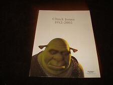 CHUCK JONES 1912-2002 tribute ad from a sad Ogre from SHREK & Dreamworks