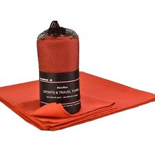 2 Pack Microfiber Travel & Sports Towels (Body & Hand)