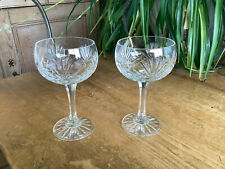 More details for 2  zawiercie majestic lead crystal champagne saucers coupes