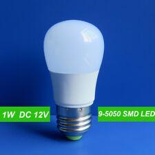 200x E27 DC 12V 1W 9 5050 SMD LED Globe Bulb Lamp Cool White for Solar System
