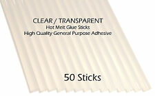7mm Mini High Quality Clear Hot Melt Glue Sticks Glue Gun Sticks - 50 Stick Pack