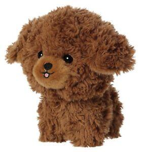 "TheMogan Brown Poodle Puppy Dog Teddy Pet Plush Stuffed Animal Toy Kids Gift 7"""