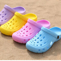 Women Ladies Slip On Hollow Rubber Water Garden Breathable Outdoor Clogs Sandals