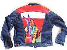 Malcolm Furlow Unique Hand Painted Jean Jacket 46L Southwest Fine Art on Clothes