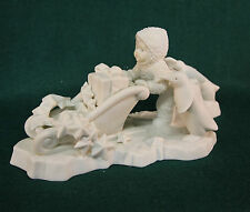 Snowbabies Dept 56 Wait For Me Full Size White Bisque D56 #6812-8 New In Box tag