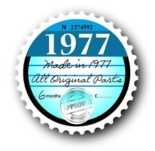 Retro 1977 Tax Disc Disk Replacement Vintage Novelty Licence Car sticker decal