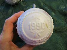 Vintage Lladro Christmas Tree Ball Porcelain Ornament 1990 - Hymlot