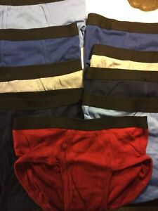 Fruit of the Loom 9 Pack Briefs New Men Sizes Underwear 100% Cotton Blue Gray