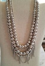 Silpada Unreleased Multi Strand Silver Plated Beaded Necklace Wear It 7 Ways
