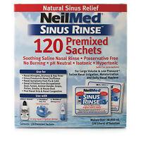 Solution Saline de Neilmed Nettoyage des Sinus Nasaux 120 Sachets Rinse Naturel