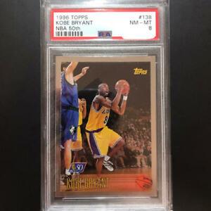 209 NBA Card Kobe Bryant topps RC 50th PSA 8  #138 card