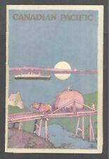 1923 Orig Canadian Pacific Line R.M.S MELITA PASSENGER LIST inc Track Chart