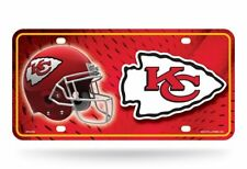 Kansas City Chiefs Metal Embossed License Plate Auto Tag Man Cave LOGO US SHIP