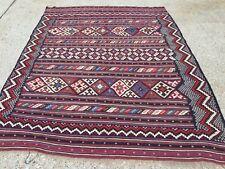 Vintage Turkish Kilim Kelim Rug 210x160cm shabby chic wool, country home, boho