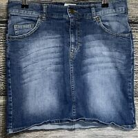 L.O.G.G. By H&M Women's Blue Denim Jean Straight Skirt Size 8 -J3