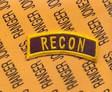US ARMY RECON Infantry Cavalry Reconnaissance Black & Gold tab patch